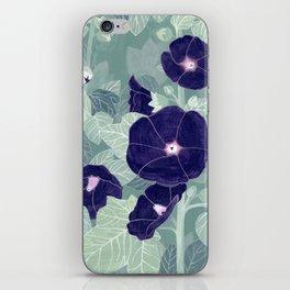 Dark florals iPhone Skin