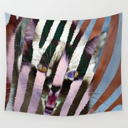 Cat on steroids Wall Tapestry