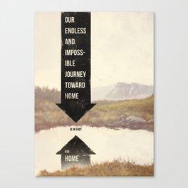 Endless Journey Home Canvas Print