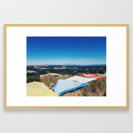 On top of a Mountain Framed Art Print