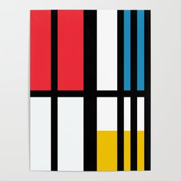 Thinking about Mondrian Poster