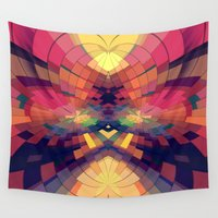 kaleidoscope Wall Tapestries featuring Kaleidoscope by Jasmine Vargas