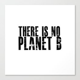 There Is No Planet B Canvas Print