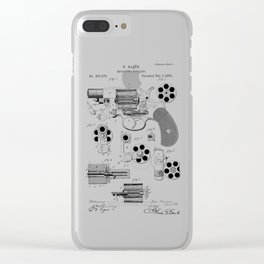 1881 Revolver Patent  Clear iPhone Case