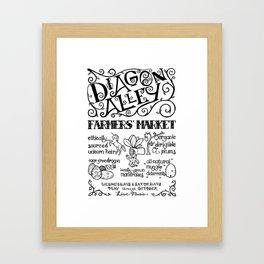 Diagon Alley Farmers' Market Framed Art Print