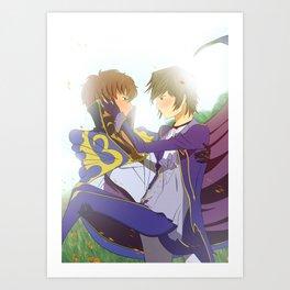 Suzaku and Lelouch Art Print