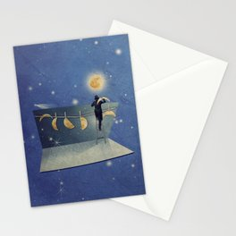 The moon changer Stationery Cards
