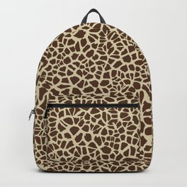 Giraffe Skin Pattern Design Cracked Brown and Tan Texture Backpack
