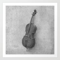 kindle Art Prints featuring The Cello  by Terry Fan