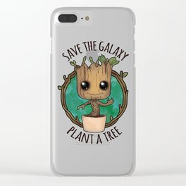 save galaxy Clear iPhone Case