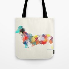 the dachshund mode Tote Bag