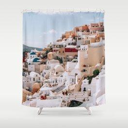 The Hills Have Windows | Santorini, Greece Shower Curtain