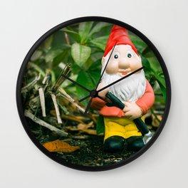 Garden Gnome Wall Clock