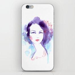 Nicole. Watercolor painting. iPhone Skin