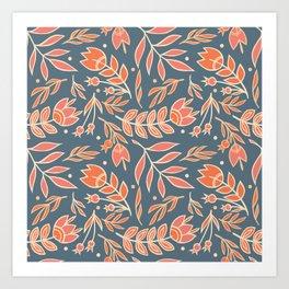 Loquacious Floral Art Print
