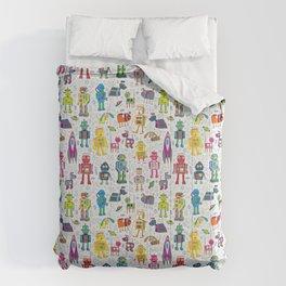 Robots in Space Comforters