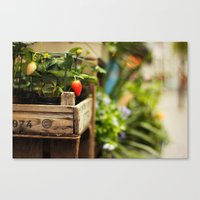 strawberry Canvas Prints featuring Strawberry by Nina's clicks