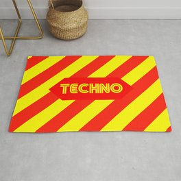 Techno music design for Techno lovers and TECHNO DJS Rug