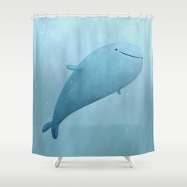 Cute Whale Shark Shower Curtain