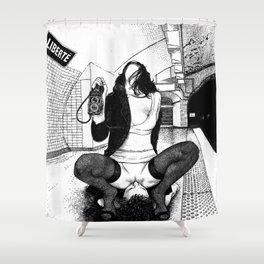 asc 584 - Une Américaine à Paris (My 4th of July in Paris) Shower Curtain