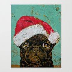 Santa Pug Canvas Print