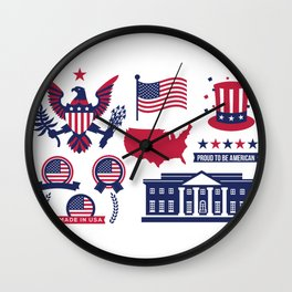 Proud To Be American - National Presidents Day Wall Clock