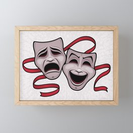 Comedy And Tragedy Theater Masks Framed Mini Art Print