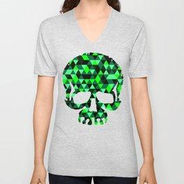 Triangle Camouflage Skull (WITHE) Unisex V-Neck