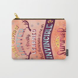 In the Depth of Winter//Invincible Summer Carry-All Pouch