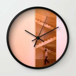 Day at the museum - stairs Wall Clock