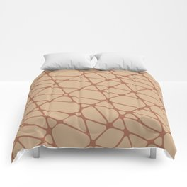 Cavern Clay SW 7701 Abstract Mosaic Pattern 2 on Ligonier Tan SW 7717 Comforters