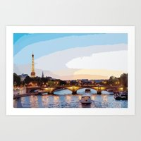 The Seine River Art Print