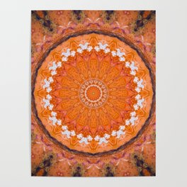 Orange October Mandala Poster