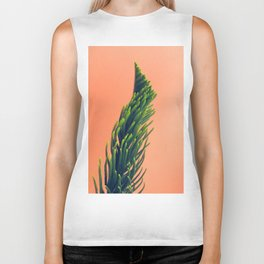 Complementary Colors Green Salmon Pink Against Background Biker Tank