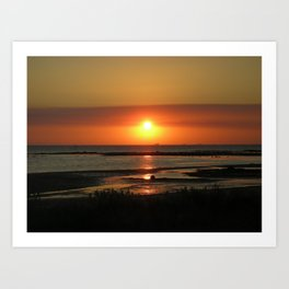 Angel Wings Sunset Art Print