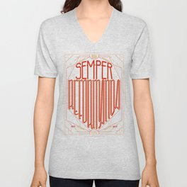 Semper Reformanda: Celebrating the 500th Anniversary of the Protestant Reformation Unisex V-Neck