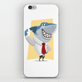 Well Dressed Shark Artwork iPhone Skin