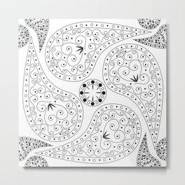 Black & White Coordination Metal Print