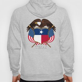 Texas flag and eagle crest concept Hoody