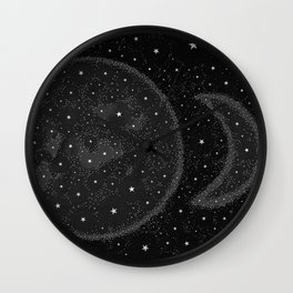 Starry Boho Moons Wall Clock