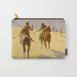 "Frederic Remington Western Art ""The Parley"" Carry-All Pouch"