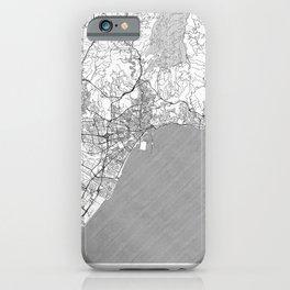 Malaga Map Line iPhone Case