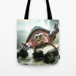 Terrified Turtle Tote Bag