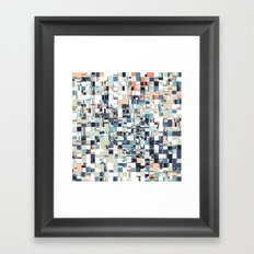 Abstract Jumbled Mosaic Framed Art Print