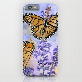 Flutter-By On Flower Fronds iPhone Case