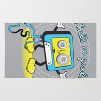 poop Area & Throw Rugs featuring cassette poop by jumpy
