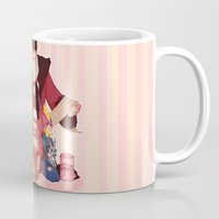valentines Mugs featuring Happy Valentines  by DustyLeaves