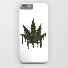 Melting Cannabis Leaf | Marijuana THC CBD Stoner iPhone Case