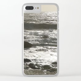 Shimmering Waves Clear iPhone Case