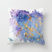 battlestar galactica Throw Pillows featuring Galactica by Maïlys Jans